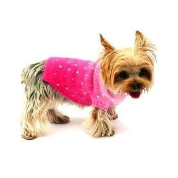 Dog Squad Pink Sunset Sparkle Angora Blend Dog Turtleneck Sweater-Paws & Purrs Barkery & Boutique