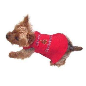 The Dog Squad Merry Christmas Tree Red Dog Dress-Paws & Purrs Barkery & Boutique