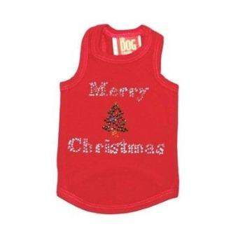 The Dog Squad Merry Christmas Tree Red Christmas Tank-Paws & Purrs Barkery & Boutique