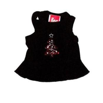 The Dog Squad Red Tree on Black Christmas Dog Dress-Paws & Purrs Barkery & Boutique