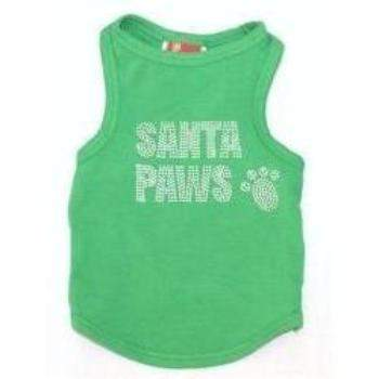 The Dog Squad Big Santa Paws Green Christmas Dog Tank Top-Paws & Purrs Barkery & Boutique