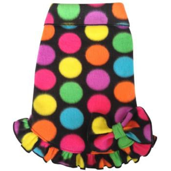 Big Bright Dots Multi-Color Fleece Dress.