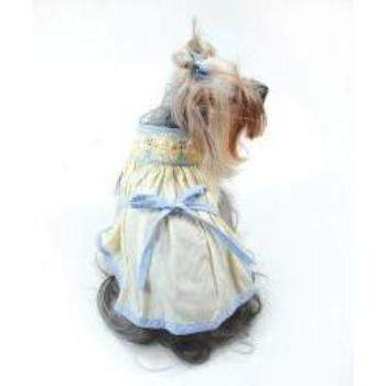 Oscar Newman Duckie Hand-Smocked Bishop Dog Dress-Paws & Purrs Barkery & Boutique