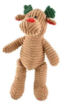 "Ethical Christmas Holiday Reindeer Corduroy Dog Toy 23""-Paws & Purrs Barkery & Boutique"