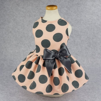 Fitwarm Vintage Pink Polka Dot Dog Dress-Paws & Purrs Barkery & Boutique  https://pawspurrs.com/products/vintage-pink-polka-dot-dog-dress