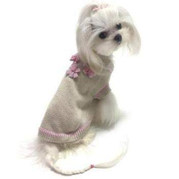 Oscar Newman Flower Power Dog Sweater-Paws & Purrs Barkery & Boutique