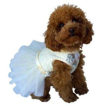 The Dog Squad Fufu Tutu Ivory Dog Dress-Paws & Purrs Barkery & Boutique
