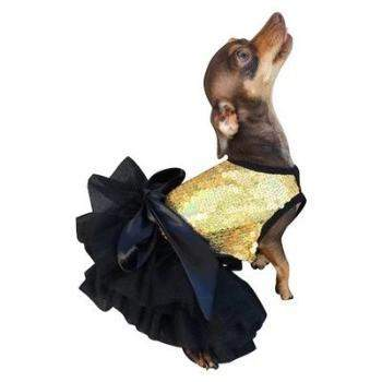 The Dog Squad Fufu Tutu Gold Dress-Paws & Purrs Barkery & Boutique
