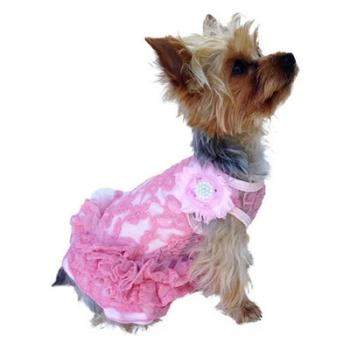 Dog Squad Pink Garden Party Designer Small Dog Tutu Dress-Paws & Purrs Barkery & Boutique