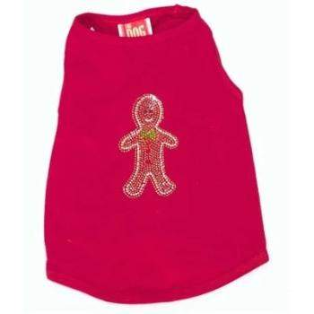 Dog Squad Gingerbread Red Christmas Dog Tee-Paws & Purrs Barkery & Boutique