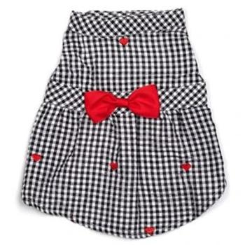 Worthy Dog Gingham Hearts Dog Dress-Paws & Purrs Barkery & Boutique