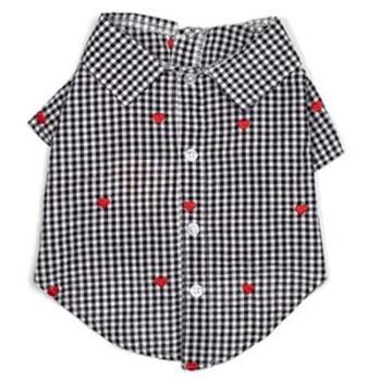 The Worthy Dog Gingham Hearts Dog Shirt-Paws & Purrs Barkery & Boutique