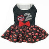 Doggie Design Girls Bite Back Halloween Black & Red Dog Dress-Paws & Purrs Barkery & Boutique