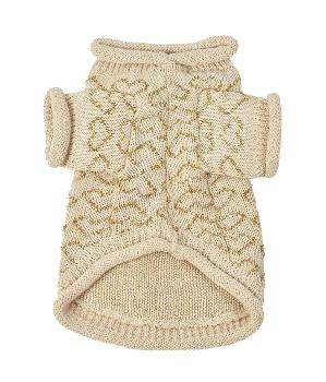 Oscar Newman Gold Heart to Heart Dog Sweater-Paws & Purrs Barkery & Boutique