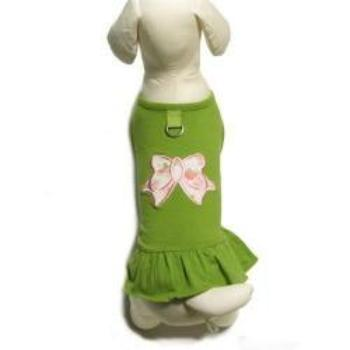 A Line Bow Dog Dress.