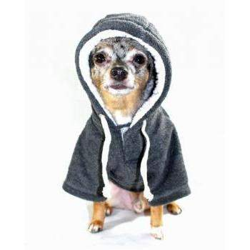 Hip Doggie Crest Grey Fleece Dog Hoodie-Paws & Purrs Barkery & Boutique