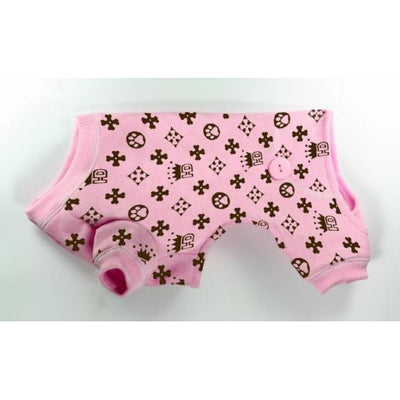 Hip Doggie Crown Dog Pajamas in Pink-Paws & Purrs Barkery & Boutique