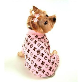 Crown Dog Pajamas - Pink