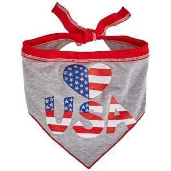 I See Spot Heart USA Dog Bandanna
