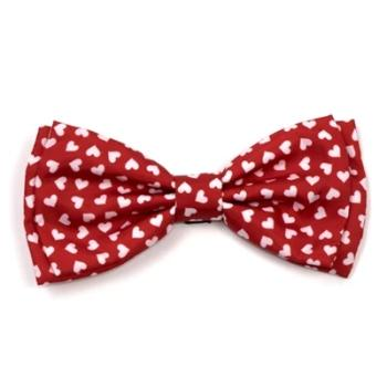 Hearts Dog Bow Tie