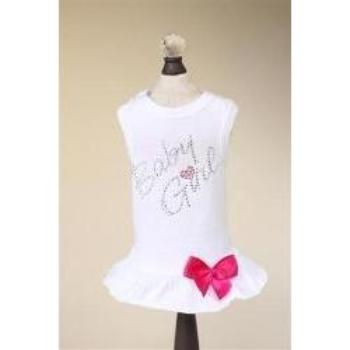 Hello Doggie White Baby Girl Dog Dress-Paws & Purrs Barkery & Boutique