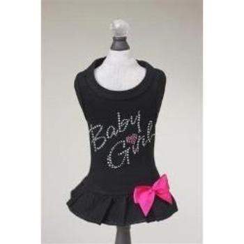Hello Doggie Black Baby Girl Dog Dress-Paws & Purrs Barkery & Boutique