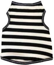 I See Spot Black & White Stripe Dog Tank-Paws & Purrs Barkery & Boutique