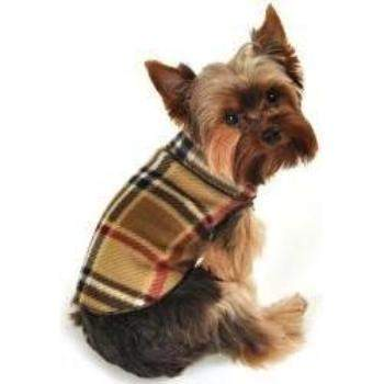 I See Spot Camel Blanket Plaid Fleece Dog Pullover-Paws & Purrs Barkery & Boutique