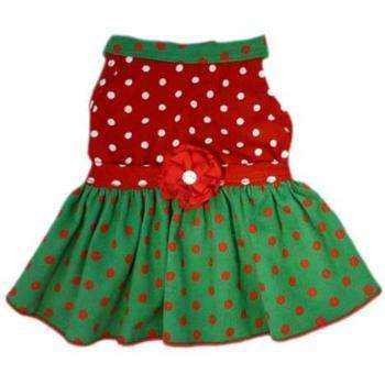 I See Spot Polka Dot Corduroy Dog Dress-Paws & Purrs Barkery & Boutique