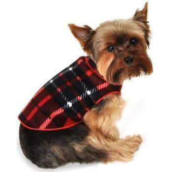 I See Spot Red Blanket Plaid Fleece Pullover Top-Paws & Purrs Barkery & Boutique