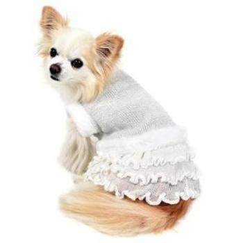 Ice Princess Dog Sweater Dress