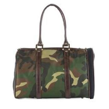 Petote JL Camouflage with Brown Trim Duffle Dog Carrier-Paws & Purrs Barkery & Boutique