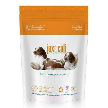 Jax & Cali Dog & Cat Paw & Body Wipes - 10 Wipes