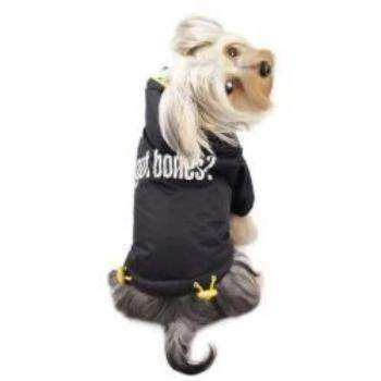 "Klippo ""Got Bones?"" Thick Dog Coat with Detachable Hood -Paws & Purrs Barkery & Boutique"