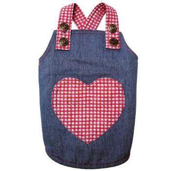 Klippo Soft Denim and Checkered Dog Dress-Paws & Purrs Barkery & Boutique