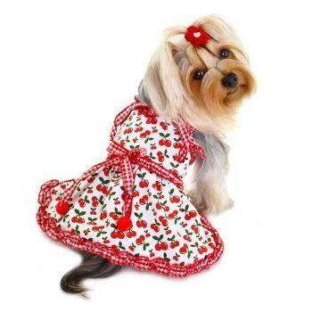 Klippo Sweet Cherries Dog Sun Dress with D-Ring-Paws & Purrs Barkery & Boutique