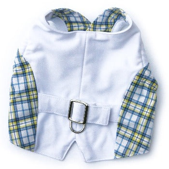 Dog in the Closet The Lawrence Blue Plaid Dog Vest-Paws & Purrs Barkery & Boutique