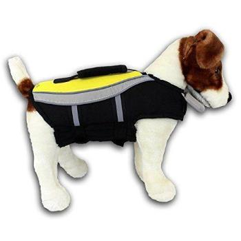 Alcott Water Adventure Mariner Neon Yellow Dog Life Jacket-Paws & Purrs Barkery & Boutique