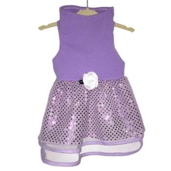 Daisy & Lucy Lilac Tulle & Sequin Dog Dress-Paws & Purrs Barkery & Boutique