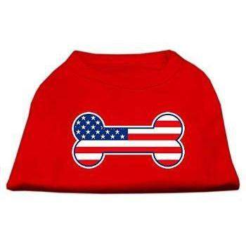 Mirage Pet Products Bone Shaped American Flag Dog Shirt-Paws & Purrs Barkery & Boutique