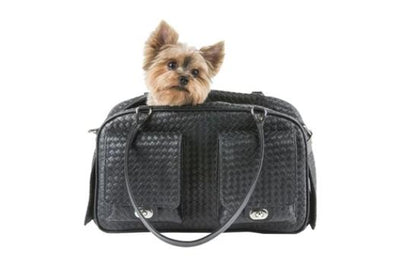Petote Marlee Black Woven Dog Carrier-Paws & Purrs Barkery & Boutique