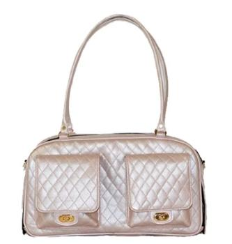 Petote Marlee Petal Pink Quilted Dog Carrier-Paws & Purrs Barkery & Boutique