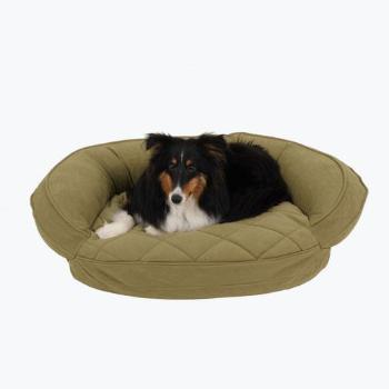 Carolina Pet Company Microfiber Quilted Bolster Dog Bed w/Moisture Barrier Protection in Sage-Paws & Purrs Barkery & Boutique