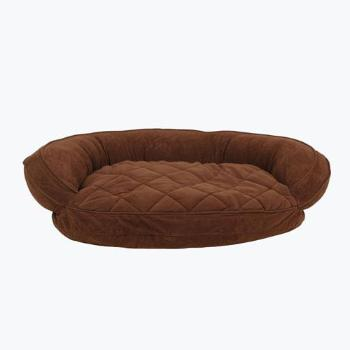 Carolina Pet Company Microfiber Quilted Bolster Dog Bed w/Moisture Barrier Protection in Chocolate-Paws & Purrs Barkery & Boutique