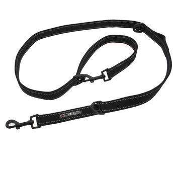 Doggie Design Black 6 Way Multi-Function Dog Leash-Paws & Purrs Barkery & Boutique