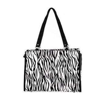 New York Dog Black Zebra Travel Pet Carrier-Paws & Purrs Barkery & Boutique