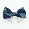 Doggie Design Navy Blue & Green Stripe Universal Dog Bow Tie-Paws & Purrs Barkery & Boutique