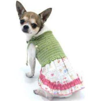 Truly Oscar County Fair Diva Smocked Dog Dress-Paws & Purrs Barkery & Boutique