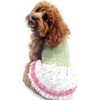 County Fair Diva Smocked Dog Dress