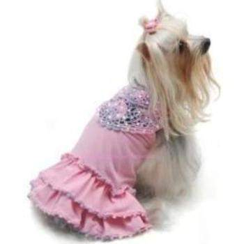 Oscar Newman Craving Cotton Candy Hand-Crocheted Dog Dress-Paws & Purrs Barkery & Boutique